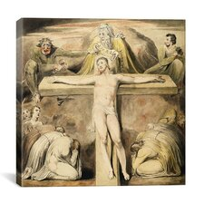 """Christ Nailed to the Cross (the Third Hour)"" Canvas Wall Art by William Blake"