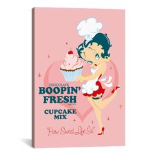 Betty Boop Boopin Fresh Cupcake Graphic Art on Canvas