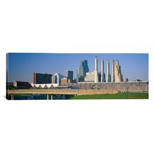 Panoramic Bartle Hall Kansas City MO Photographic Print on Canvas
