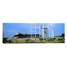 Panoramic Kauffman Stadium, Kansas City, Missouri Photographic Print on Canvas