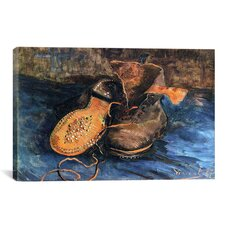 'A Pair of Shoes' by Vincent van Gogh Painting Print on Canvas