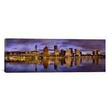 Panoramic Buildings at the Waterfront, Portland, Oregon Photographic Print on Canvas