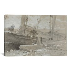 'A Fish Story' by Winslow Homer Painting Print on Canvas