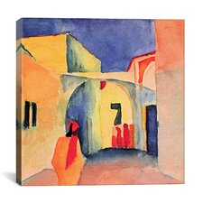 """A Glance Down an Alley"" Canvas Wall Art by August Macke"