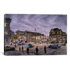 'A Night On Bunker Hill' by Stanton Manolakas Painting Print on Canvas