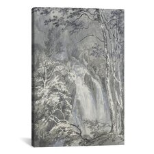 'A Waterfall in a Wooded Landscape 1795' by Joseph William Turner Painting Print on Canvas