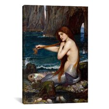 'A Mermaid' by John William Waterhouse Painting Print on Canvas