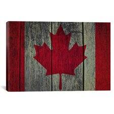Canadian Flag Graphic Art on Canvas