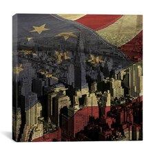 Chrysler Building - Manhattan, New York City, American Flag Graphic Art on Canvas