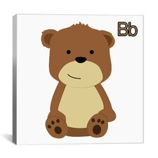Kids Art B is for Bear Graphic Canvas Wall Art
