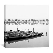"""Boats in Lake"" Canvas Wall Art by Harold Silverman"