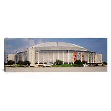 Panoramic Houston Astrodome, Houston, Texas Photographic Print on Canvas
