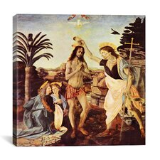 """Batismo de Cristo"" Canvas Wall Art by Leonardo da Vinci"
