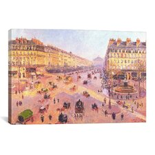 'Avenue de L'Opera'  by Camille Pissarro Painting Print on Canvas