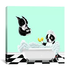 Bath Tub BT by Brian Rubenacker Graphic Art on Canvas