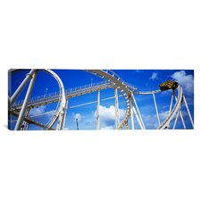 Panoramic Batman the Escape at Astroworld in Houston, Texas Photographic Print on Canvas
