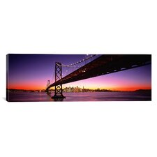 Panoramic Bay Bridge San Francisco, California Photographic Print on Canvas