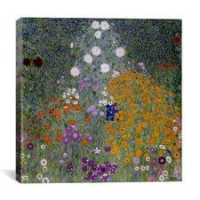 'Bauerngarten (Flower Garden)' by Gustav Klimt Painting Print on Canvas