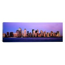 Panoramic Buildings at the Waterfront, Manhattan, New York City, New York State Photographic Print on Canvas