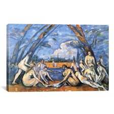 'Bathers 2' by Paul Cezanne Painting Print on Canvas