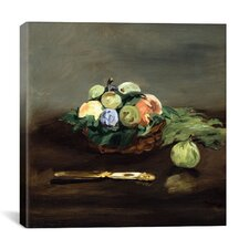 """Basket of Fruit"" Canvas Wall Art by Edouard Manet"
