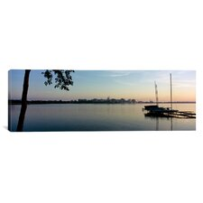 Panoramic Buildings at the Waterfront, Lake Monona, Madison, Dane County, Wisconsin Photographic Print on Canvas