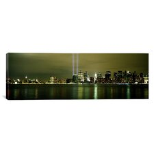 Panoramic Beams of Light in New York Photographic Print on Canvas