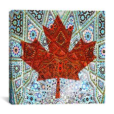 Canadian Flag, Maple Leaf #6 Graphic Art on Canvas