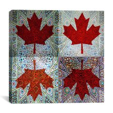 Canadian Flag, Maple Leaf #7 Graphic Art on Canvas