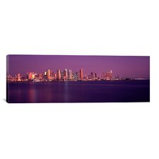 Panoramic Buildings at the Waterfront, San Diego, California 2010 Photographic Print on Canvas