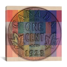 Canada One Cent #1 Graphic Art on Canvas