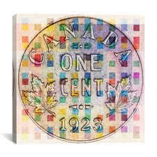 Canada One Cent #4 Graphic Art on Canvas