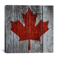 Canadian Flag, Maple Leaf Graphic Art on Canvas