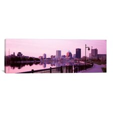 Panoramic Buildings at the Waterfront, Genesee, Rochester, Monroe County, New York State Photographic Print on Canvas