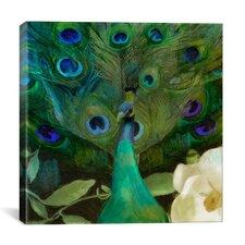 """Aqua Peacock"" Canvas Wall Art by Color Bakery"