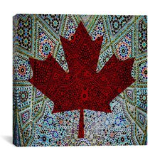 Canadian Flag, Maple Leaf #4 Graphic Art on Canvas