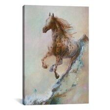 "Decorative Art ""Appaloosa Run (Running Horse)"" by Denton Lund Painting Print on Canvas"