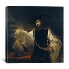 """Aristotle Comtemplating the Bust of Homer or Aristotle with a Bust of Homer"" Canvas Wall Art By Rembrandt"