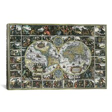 'Antique World Map II' by Interlitho Designs Graphic Art on Canvas