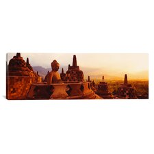 Panoramic Borobudur Buddhist Temple Java Indonesia Photographic Print on Canvas