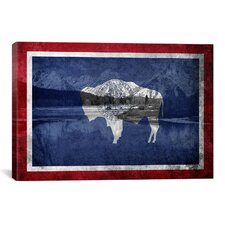 Wyoming Flag, Grand Teton Nationl Park Graphic Art on Canvas