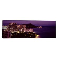 Panoramic Buildings at the Waterfront, Honolulu, Oahu, Honolulu County, Hawaii Photographic Print on Canvas
