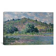 'Bords de la Seine a Port-Villez 1885' by Claude Monet Painting Print on Canvas