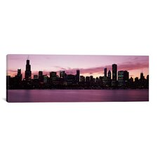 Panoramic Buildings at the Waterfront, Lake Michigan, Chicago, Illinois, 2011 Photographic Print on Canvas