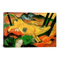 'Yellow Cow' by Franz Marc Painting Print on Canvas
