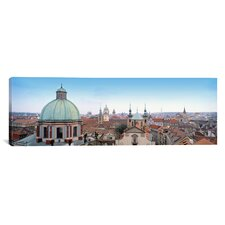 Panoramic Church in a City, Prague, Czech Republic Photographic Print on Canvas