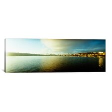 Panoramic City at The Waterfront with Gasworks Park in The Background, Seattle, King County, Washington State Photographic Print on Canvas