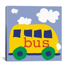 "Erin Clark ""Yellow School Bus"" Canvas Wall Art"