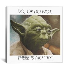 Yoda Quote Canvas Wall Art