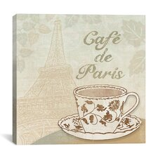 """Cafe De Paris"" Canvas Wall Art by Erin Clark"
